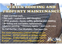 Vertex Roofing Property Maintenance Wellington Roofing Services Yell