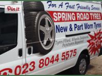 aldershot car spares part worn tyres