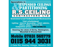 R S Ceiling Contractors Ltd, Ilkeston | Ceiling Contractors - Yell