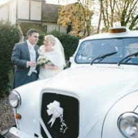 Image Of The White Wedding Taxi Co