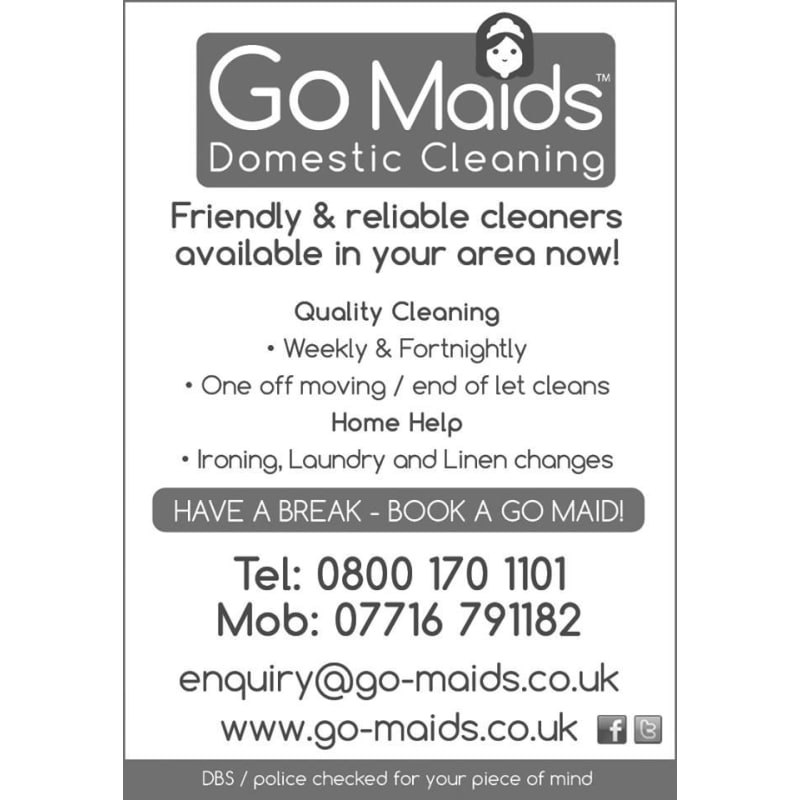 Go Maids Ltd, Waterlooville | Domestic Cleaning - Yell