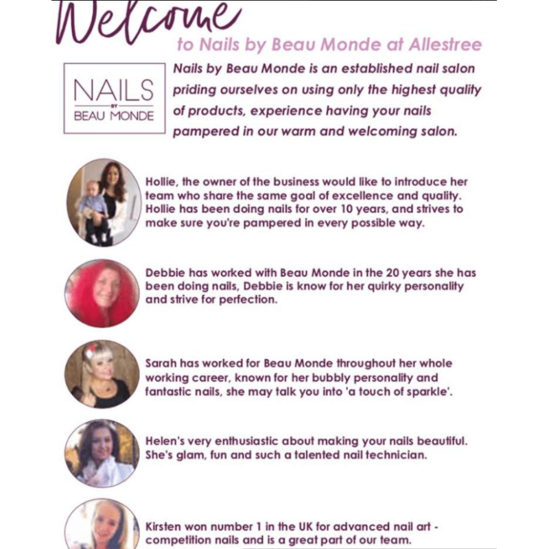 Nails by Beau Monde, Derby | Nail Technicians - Yell