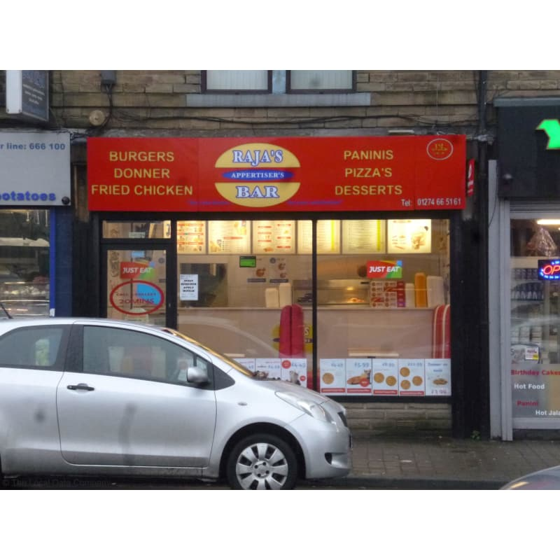 Rajas Appertisers Bar Bradford Pizza Delivery Takeaway