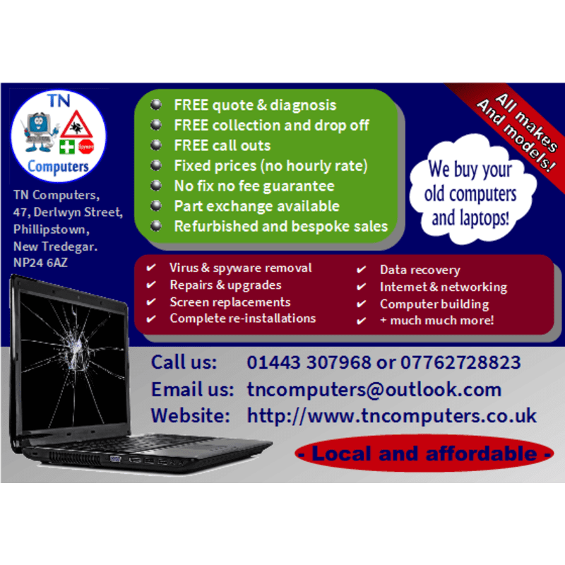 Tn Computers, New Tredegar | Computer Repairs - Yell