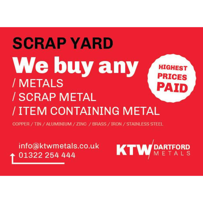 KTW Metals Ltd, Dartford | Scrap Metal Merchants - Yell