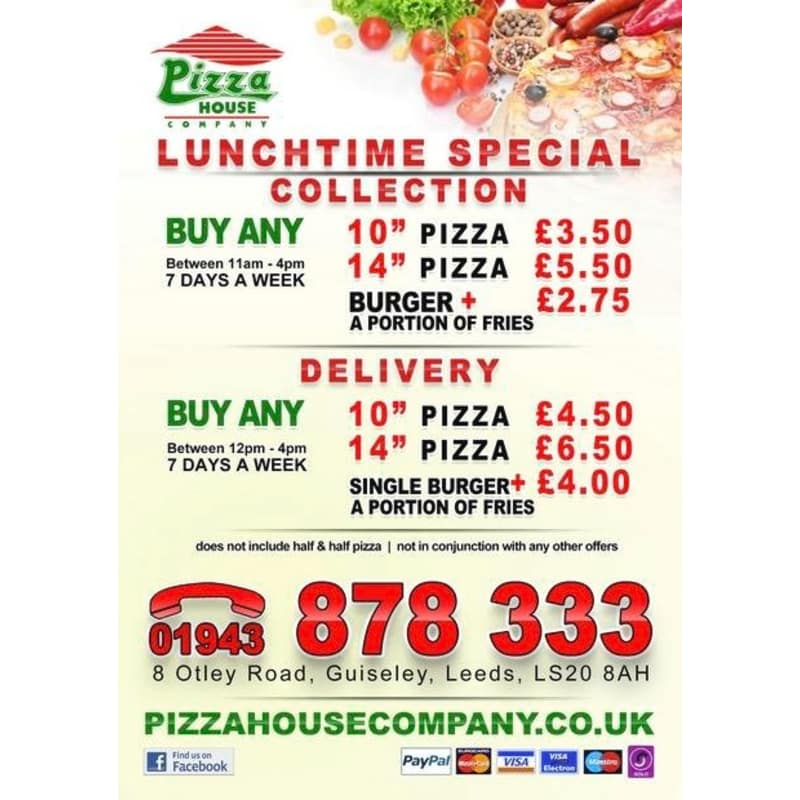 Pizza House Company Leeds Pizza Delivery Takeaway Yell