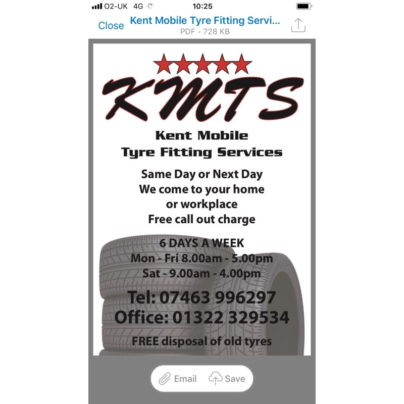 Kent Mobile Tyres Services, Dartford | Tyres - Yell