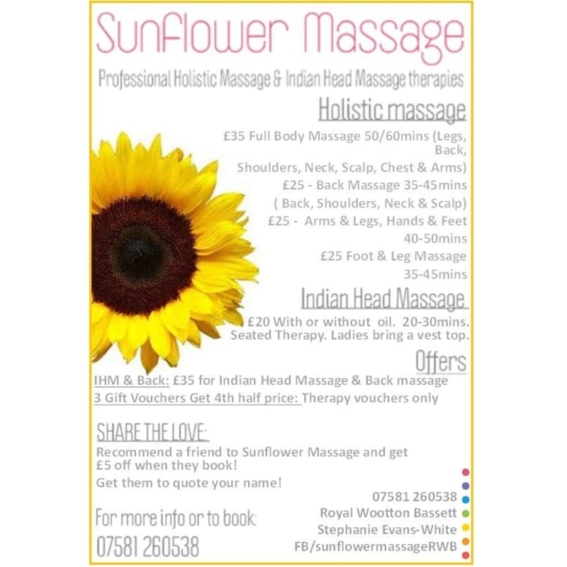 massage skellefteå sunflowers massage