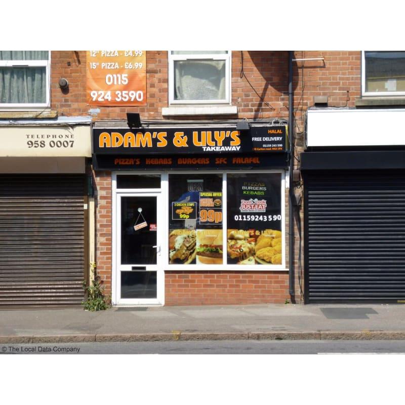 Adams Lilys Takeaway Nottingham Fast Food Restaurants