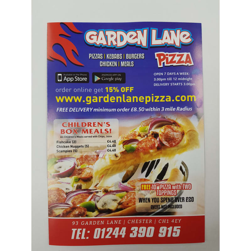 Garden Lane Pizza Chester Pizza Delivery Takeaway Yell