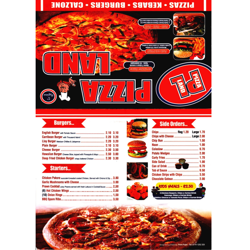 Pizza Land Blackpool Pizza Delivery Takeaway Yell