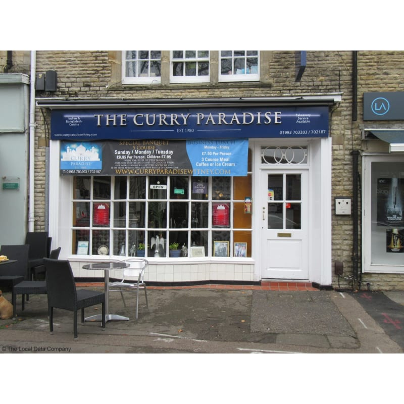 Curry Paradise Witney Indian Restaurants Yell