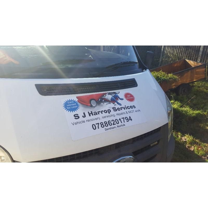 S J Harrop Services, Dereham | Breakdown Recovery - Yell