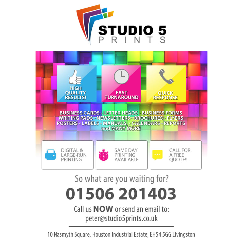 Studio 5 prints livingston colour printing yell reheart Images