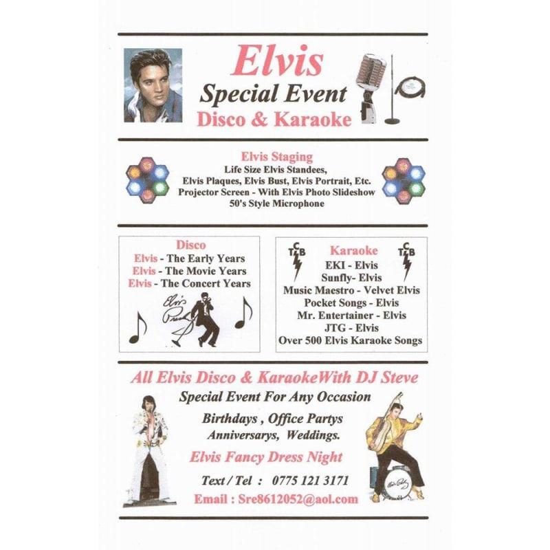 Elvis Disco & Karaoke with DJ Steve | Mobile Discos - Yell