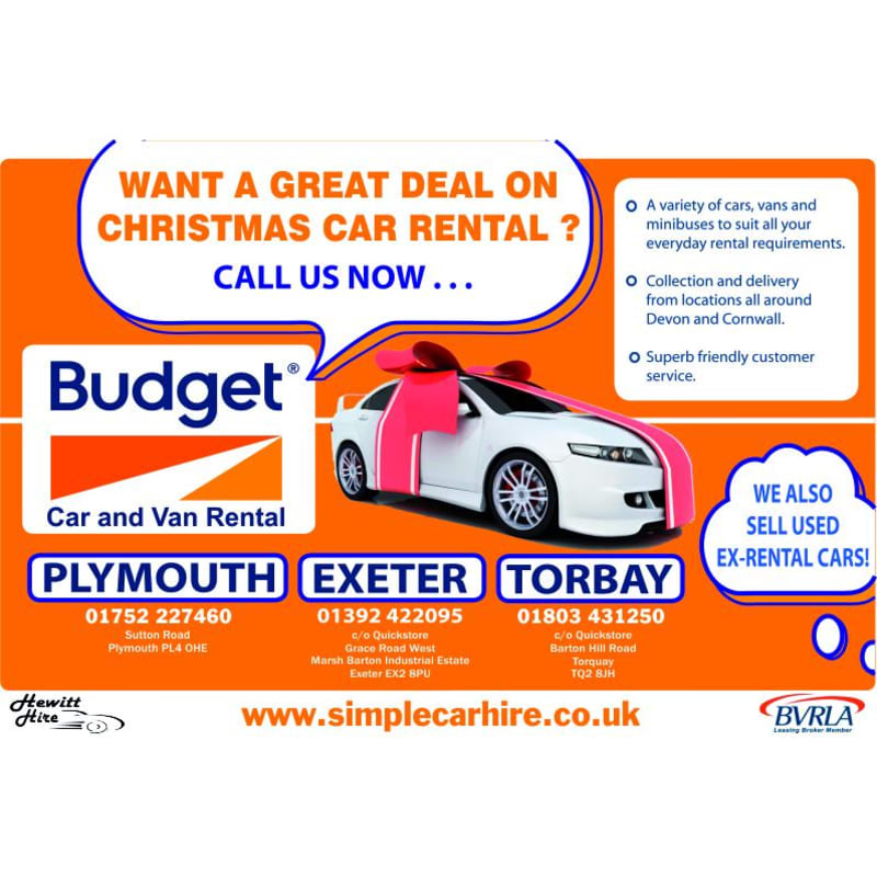 Budget Plymouth Self Drive Car Hire Yell