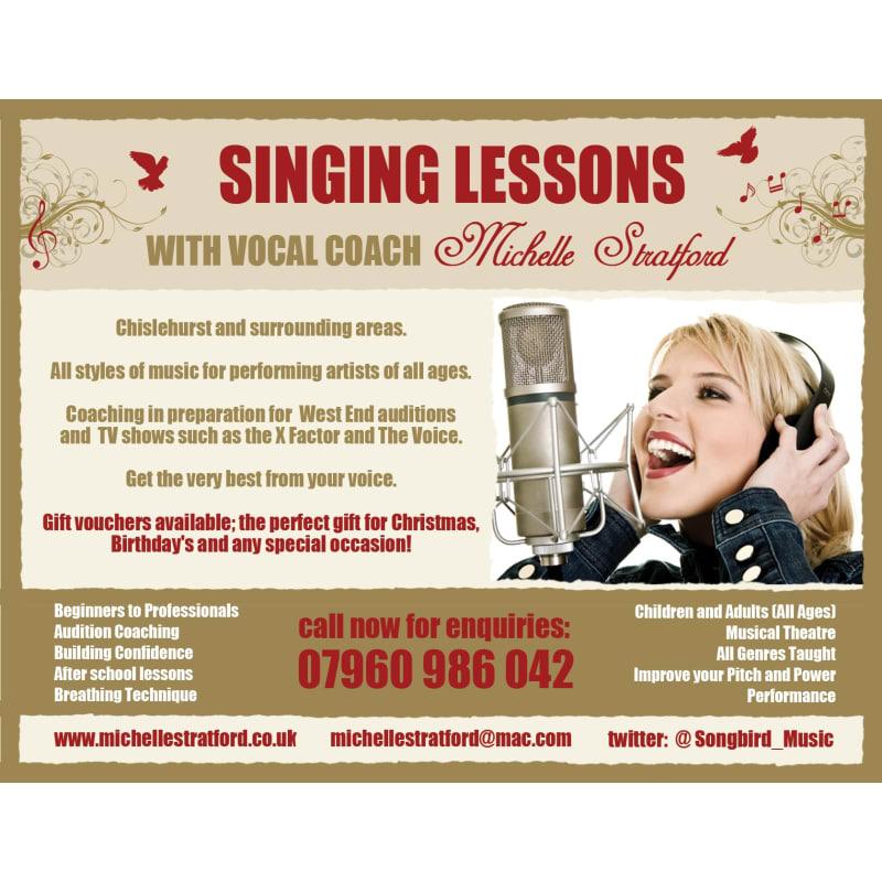 Michelle Stratford Singing Teacher, Orpington | Music