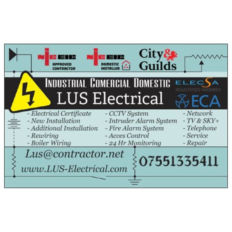 LUS Electrical, Luton | Electrical Inspecting & Testing - Yell