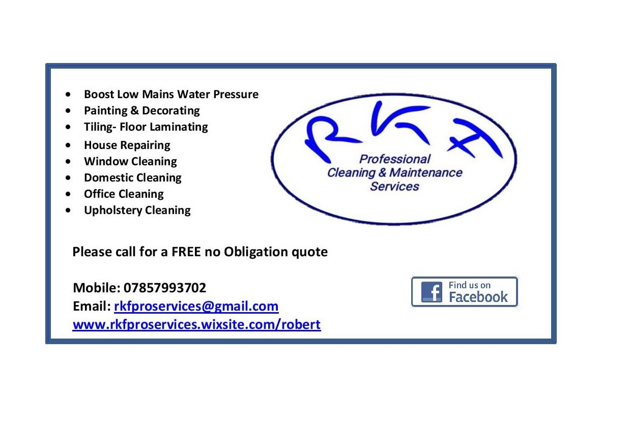 RKF Pro Services - Tiler, Painter, Plumber, Handyman, Cleaning | 43 Linen Crescent, Bangor BT19 7JW | +44 7857 993702