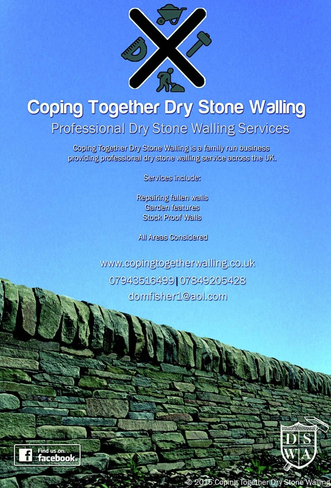 Coping Together - Professional Dry Stone Wallers | 244 Brownhill Drive, Blackburn BB1 9QR | +44 7943 516499