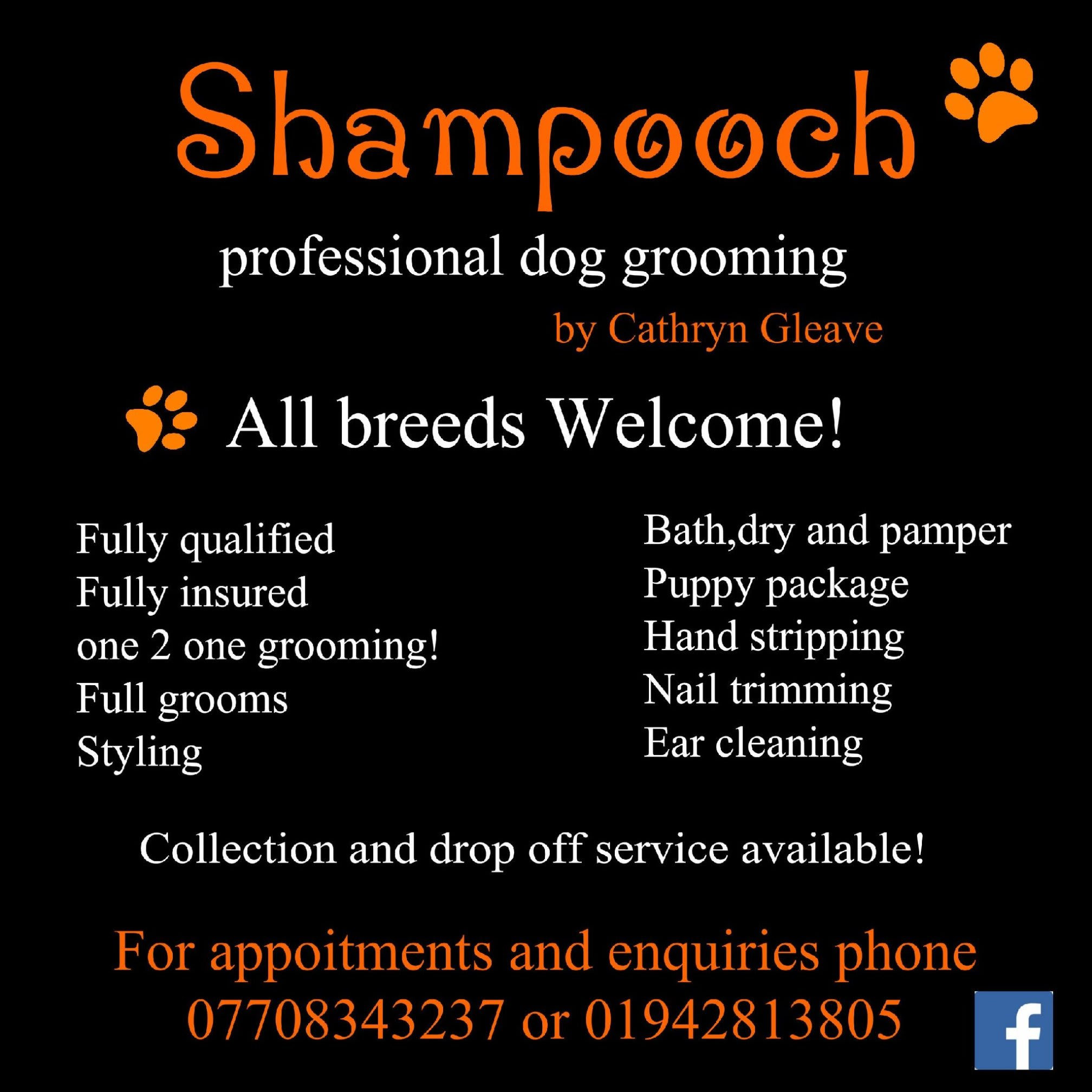Shampooch professional Dog grooming ByCathryn Gleave   6 Beehive Green, Bolton BL5 3HS   +44 7708 343237
