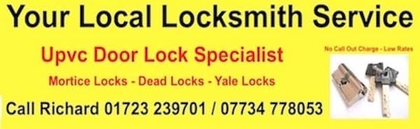 Richard Sleightholme Bridlington Filey Emergency Locksmith Service | 16 Pinewood Avenue, Filey YO14 9NS | +44 7734 778053